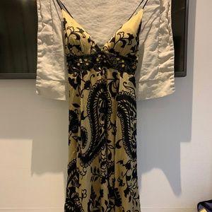 Hale Bob Fancy Dress- beige & black